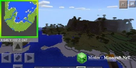 Smooth Minimap Мод для Minecraft Pocket Edition 0.15.4 - 0.15.0, 0.14.x, 0.13.x, 0.11.x