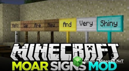 MoarSigns Мод 1.11.2, 1.10.2, 1.9.х, 1.8.9, 1.7.х и 1.6.4