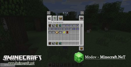 Iron Backpacks Мод 1.12.2, 1.11.2, 1.10.2, 1.8.х, 1.7.10