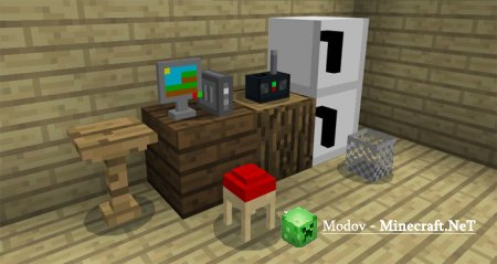 Mine-Furniture - Аддон/Мод PE 1.2.20.1, 1.2.х, 1.1.х, 1.0.х