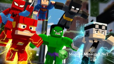 Superheroes Unlimited v5.0 Мод для 1.7.10, 1.7.2, 1.6.2 и 1.5.2