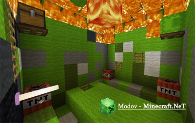 Burning It Down: Burn'em Mobs - Карта PE 1.2.10.1 - 1.2