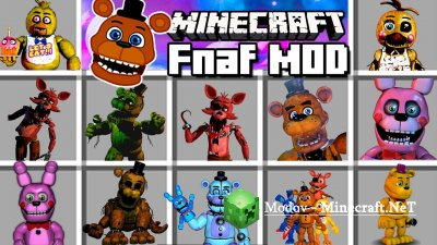 Five Nights at Freddy's Reborn Мод 1.12.2, 1.7.10