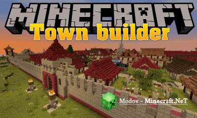 Town Builder Мод 1.12.2, 1.10.2, 1.7.10