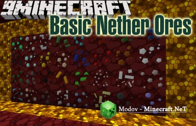 Basic Nether Ores Мод 1.14.4, 1.13.2, 1.12.2