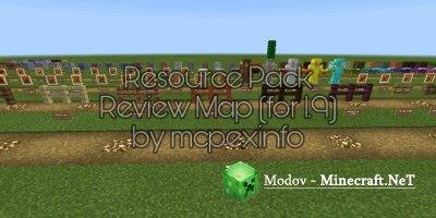 Resource Pack Review - Карта PE 1.10, 1.9
