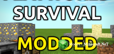 Superflatworld Survival Скрипт/Мод PE 1.9, 1.8, 1.7, 1.6