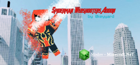 Spiderman's Webshooters - Аддон/Мод PE 1.11, 1.10, 1.9, 1.6, 1.5, 1.4