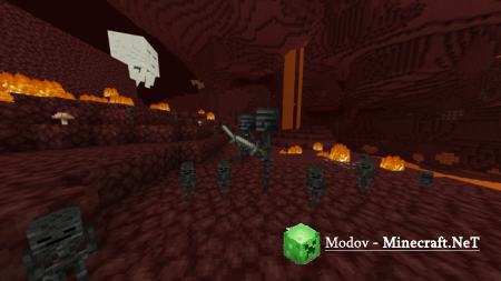 Baby Wither Skeletons Аддон/Мод PE 1.12, 1.11, 1.10, 1.9, 1.8