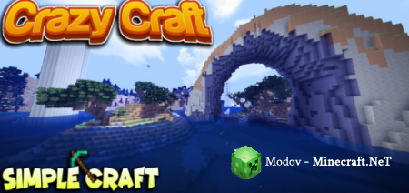 Crazy Craft Custom Terrain + Structures! – Карта PE 1.13, 1.12, 1.11, 1.10, 1.9