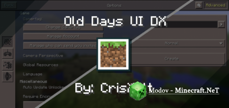 Old Days UI DX – Текстура PE 1.13, 1.12
