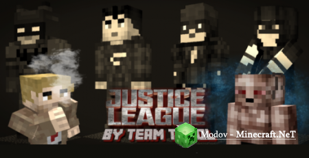 Justice League Evolve (Dark Update) Аддон/Мод PE 1.13, 1.12, 1.11