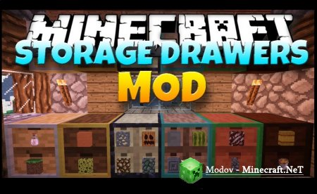 Storage Drawers Extras Мод 1.14.4, 1.12.2, 1.11.2, 1.10.2