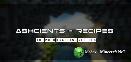 Ashcients Crafting Recipes Аддон/Мод PE 1.14, 1.13, 1.12 (Deedly O' Crafting)