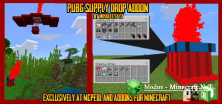 PUBG Supply Drop Аддон/Мод PE 1.16