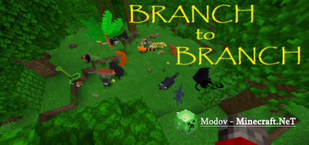 Branch to Branch Аддон/Мод PE 1.16, 1.14