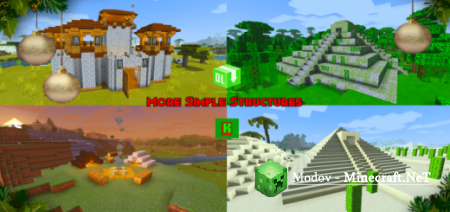 More Simple Structures v4.1 Аддон/Мод PE