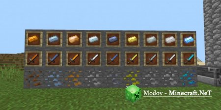 New Ores Sword Мод PE