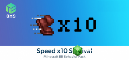 Speed x10 Survival Мод PE